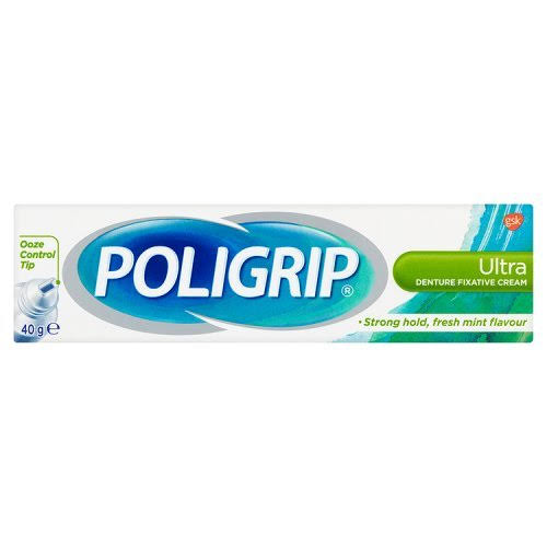 Poligrip Ultra Denture Fixative Cream (40g)