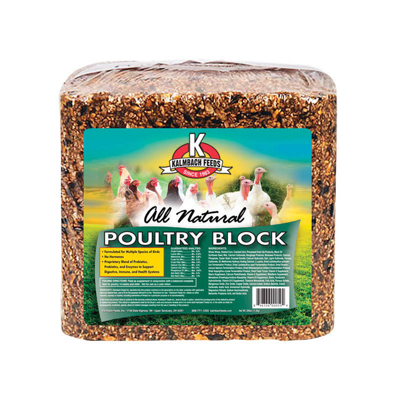 Kalmbach Feeds All Natural Poultry Block - 25lbs
