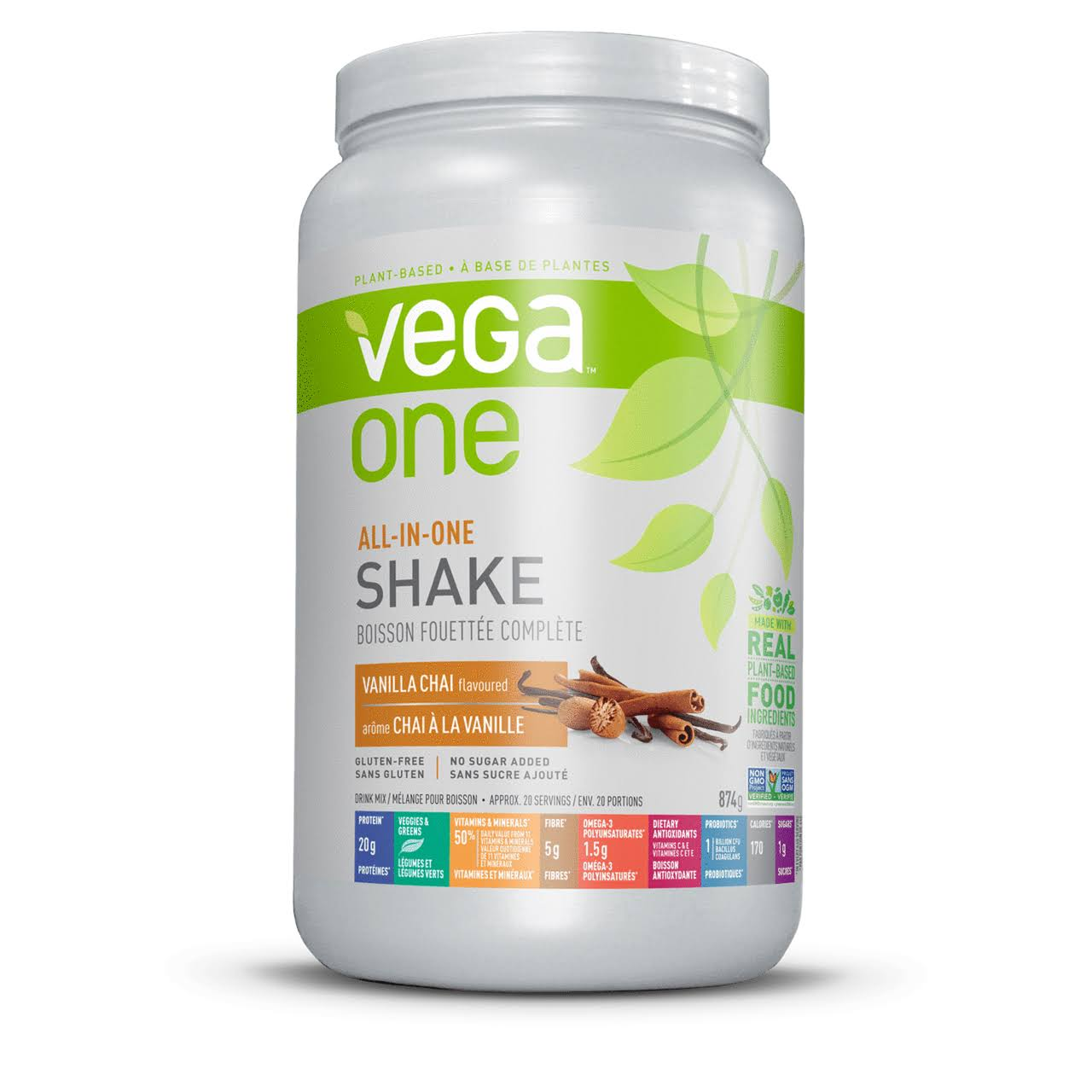 Vega One All In One Nutritional Shake - Vanila Chai, 874g