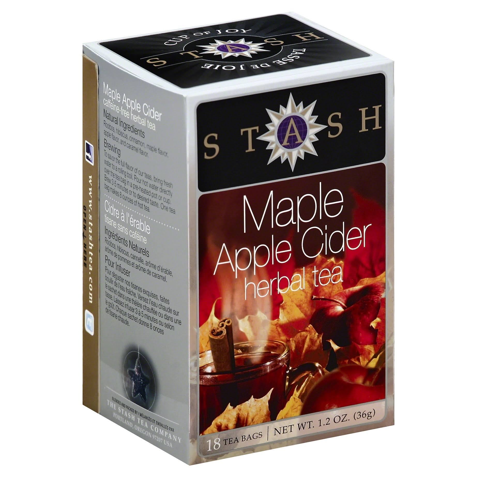 Stash Herbal Tea, Maple Apple Cider - 18 tea bags, 1.2 oz