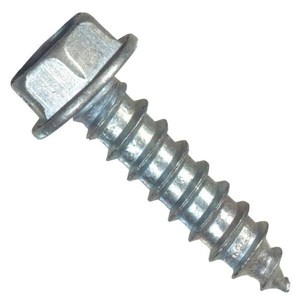 "Hillman Group Hex Washer Head Slotted Sheet Metal Screw - 12"" x 2"""