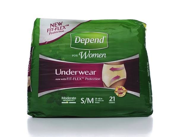 Depend Women's Fit flex Underwear - Moderate Absorbency, Small/Medium, 21ct