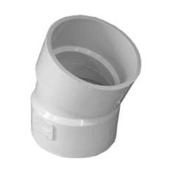 Genova 22.5 Degree PVC Pipe Elbow - White, 3""
