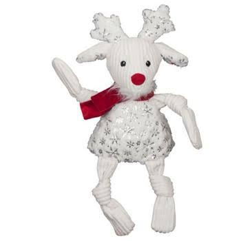 Hugglehounds Sparkle N Shine Reindeer Knottie Dog Toy Small / Plush