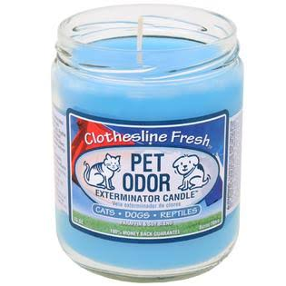 Pet Odor Exterminator Candle - Clothesline Fresh Jar, 13oz