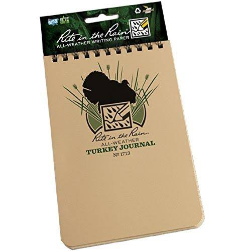 "Rite in The Rain 1713 All-Weather Turkey Hunting Journal, Tan, 4"" x 6"""