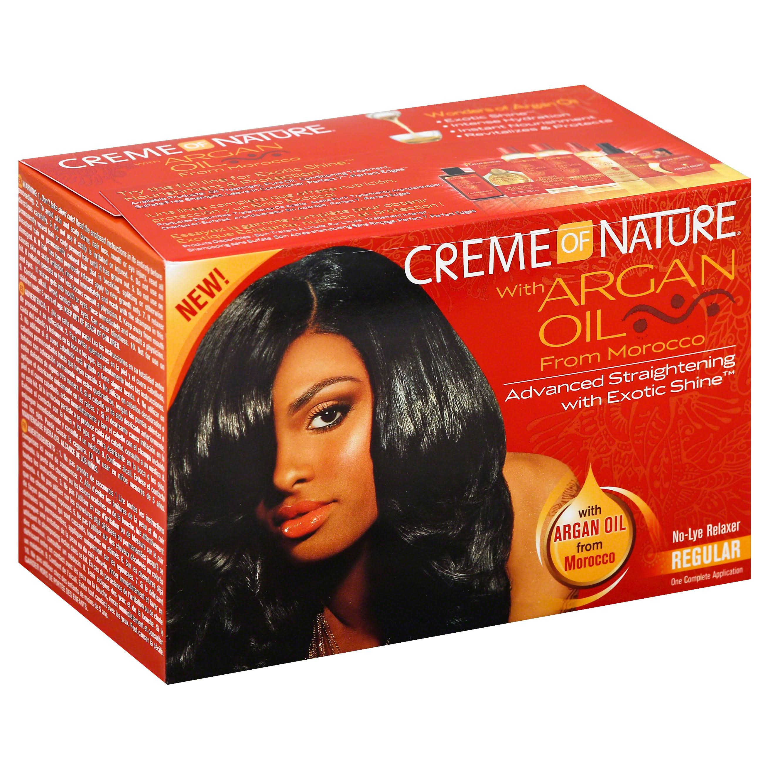 Creme of Nature Advanced Straightening with Exotic Shine Regular No-Lye Relaxer