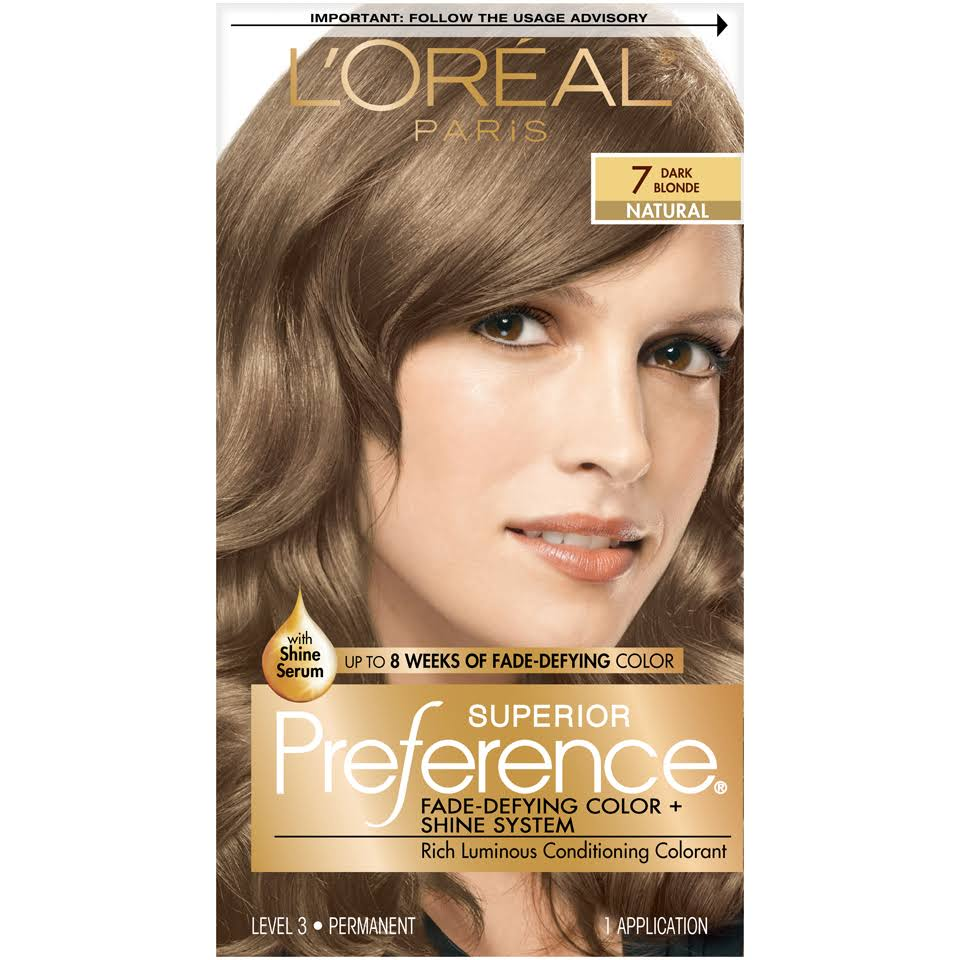L'Oréal Paris Superior Preference Hair Color - 7 Dark Blonde Natural