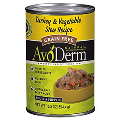 AvoDerm Grain Free Turkey & Vegetable Stew Wet Dog Food 12.5 oz