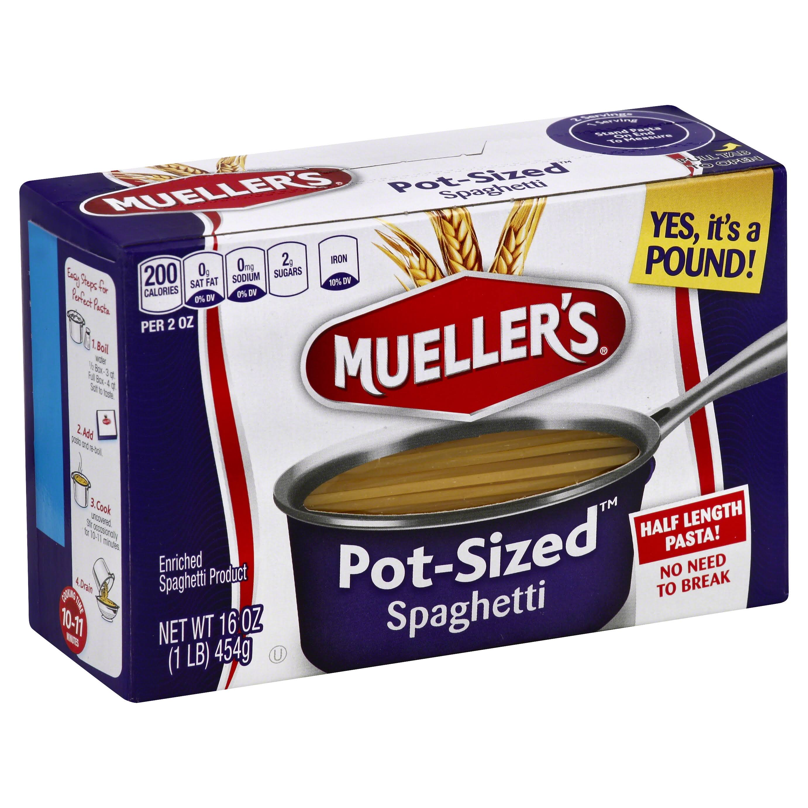 Muellers Spaghetti, Pot-Sized - 16 oz