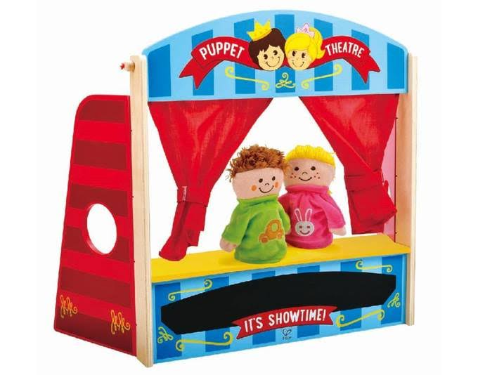 Hape Wooden Puppet Stage Playhouse Set - with Accessories