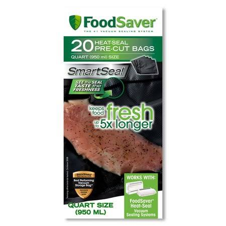"FoodSaver Quart Food Bag - 8""x11"", 20pk"