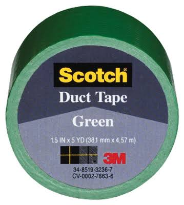 "3M Duct Tape - Green, 1.5"" x 5yd"