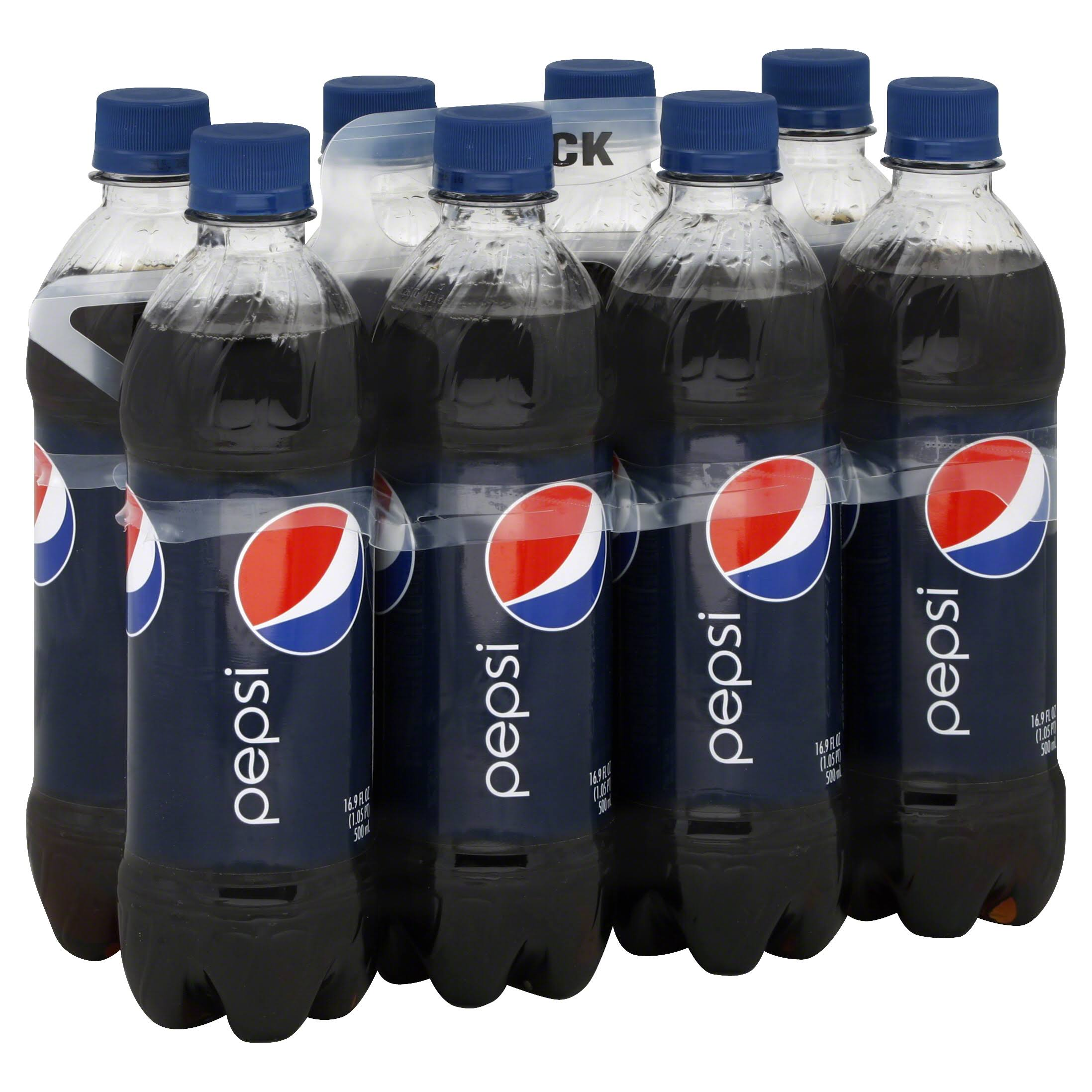 Pepsi® Cola Soda - 8ct, 16.9oz