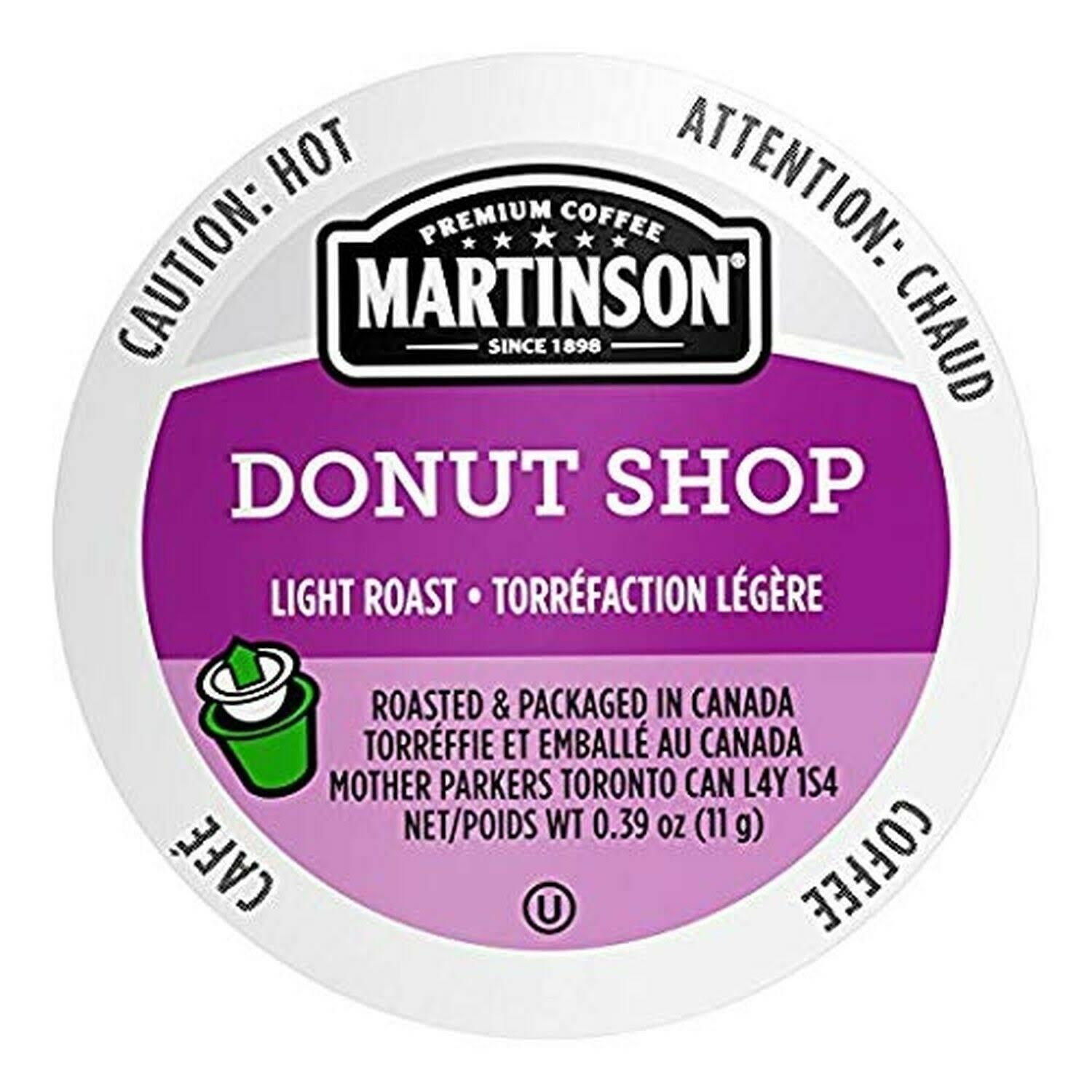 Martinson Single Serve Coffee Capsules - Donut Shop, 24ct