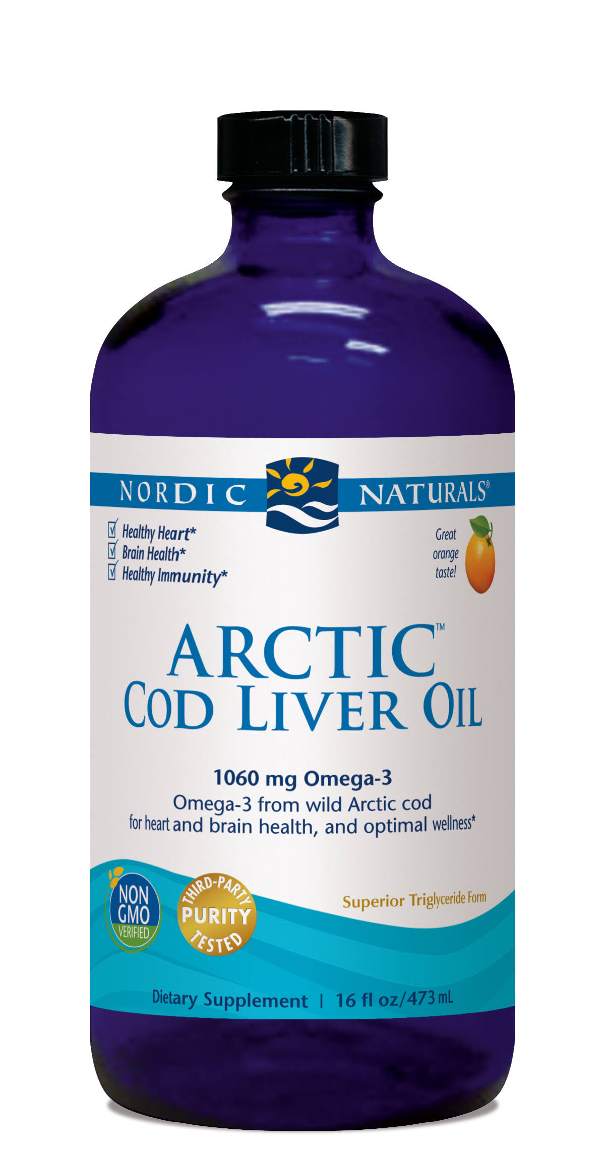 Nordic Naturals Arctic Cod Liver Oil - Orange, 473ml