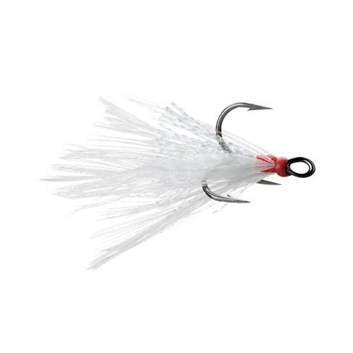 VMC Dressed X-Rap Treble Hook - White - #4