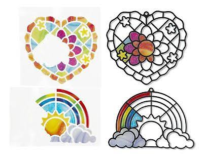 Melissa & Doug Stained Glass Made Easy Heart & Rainbow