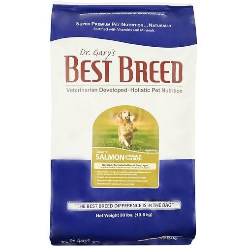 Dr. Gary's Best Breed Holistic Salmon with Vegetables & Herbs Dry Dog Food 30-lb