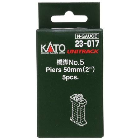 Kato 23-017 Single Track Pier Set - 50mm, N Scale
