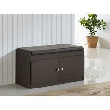 Baxton Shoe Storage Cabinet by Modern Storage Benches Allmodern Baxton 2 Door Shoe Cabinet With