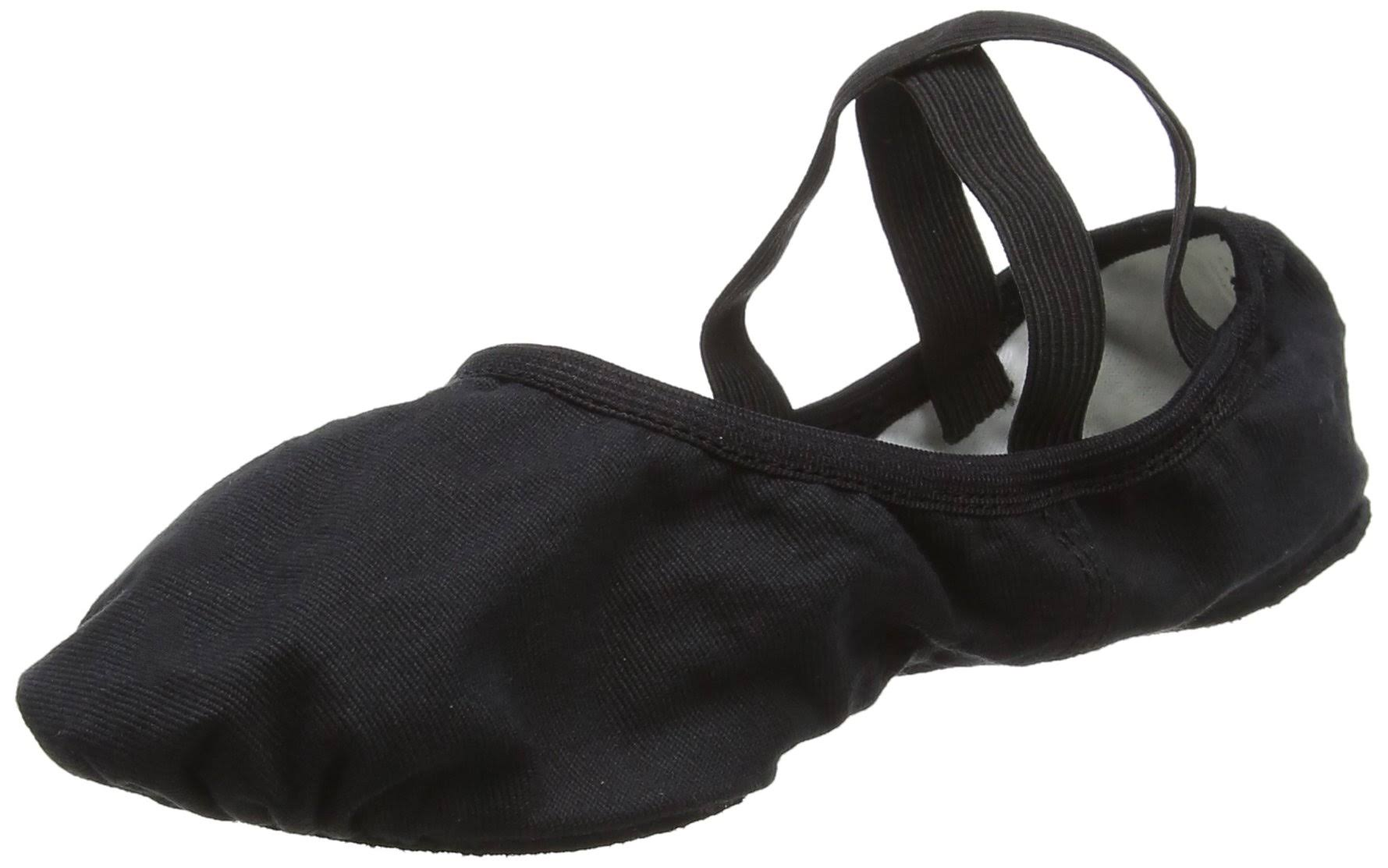 So Danca SD16 Canvas Split Sole Ballet Shoe 5 / Black