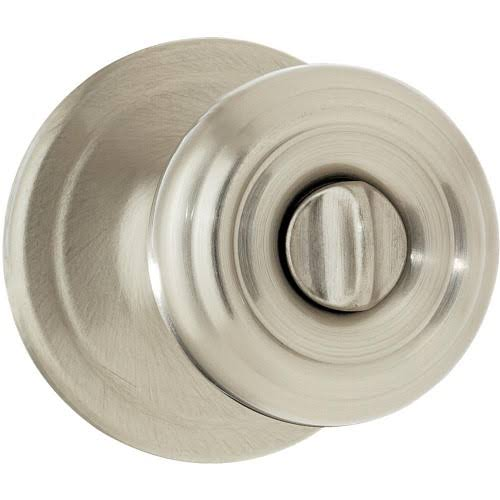 Kwikset Cameron Bed/Bath Knob - Satin Nickel