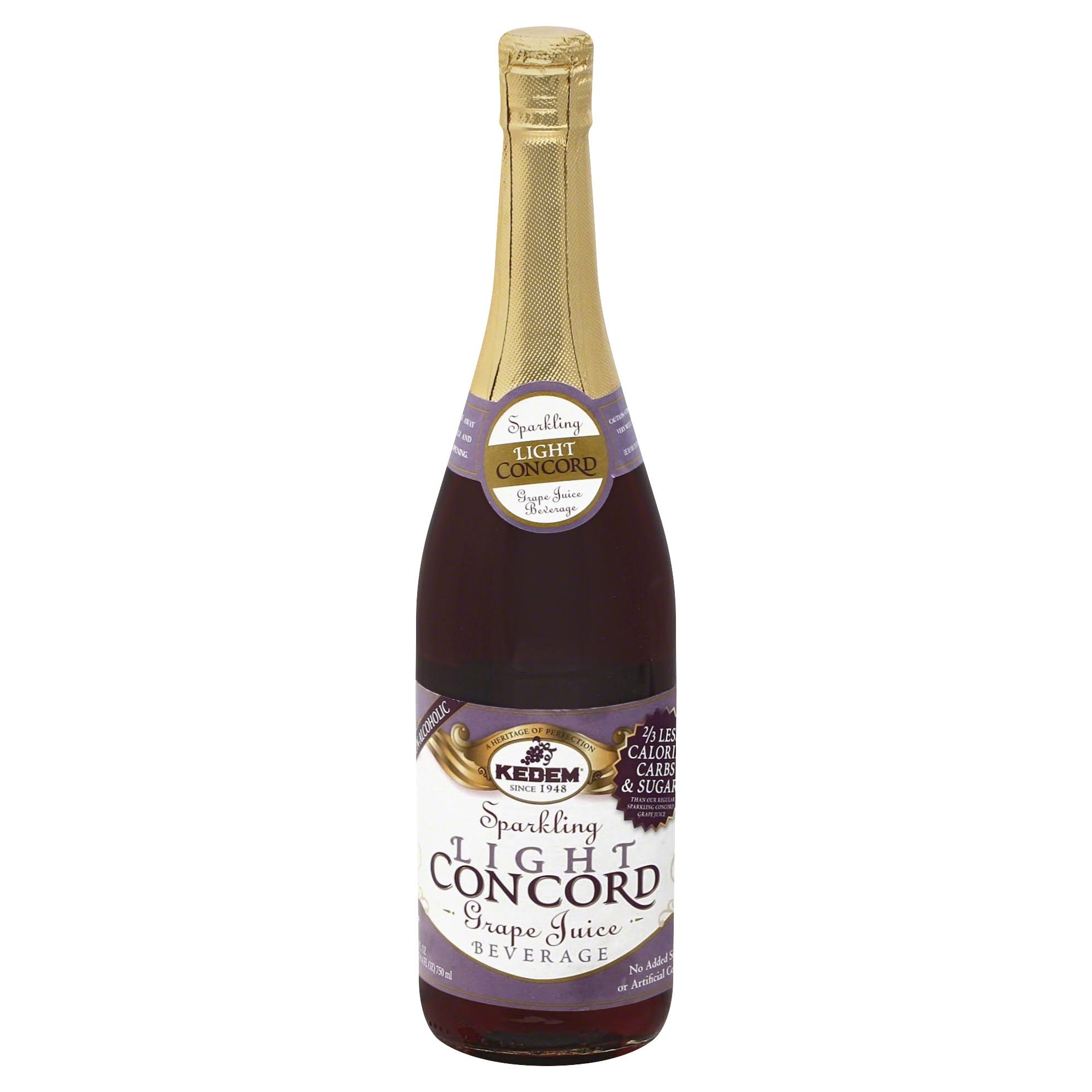 Kedem Grape Juice, Concord, Sparkling Beverage, Light - 25.4 fl oz