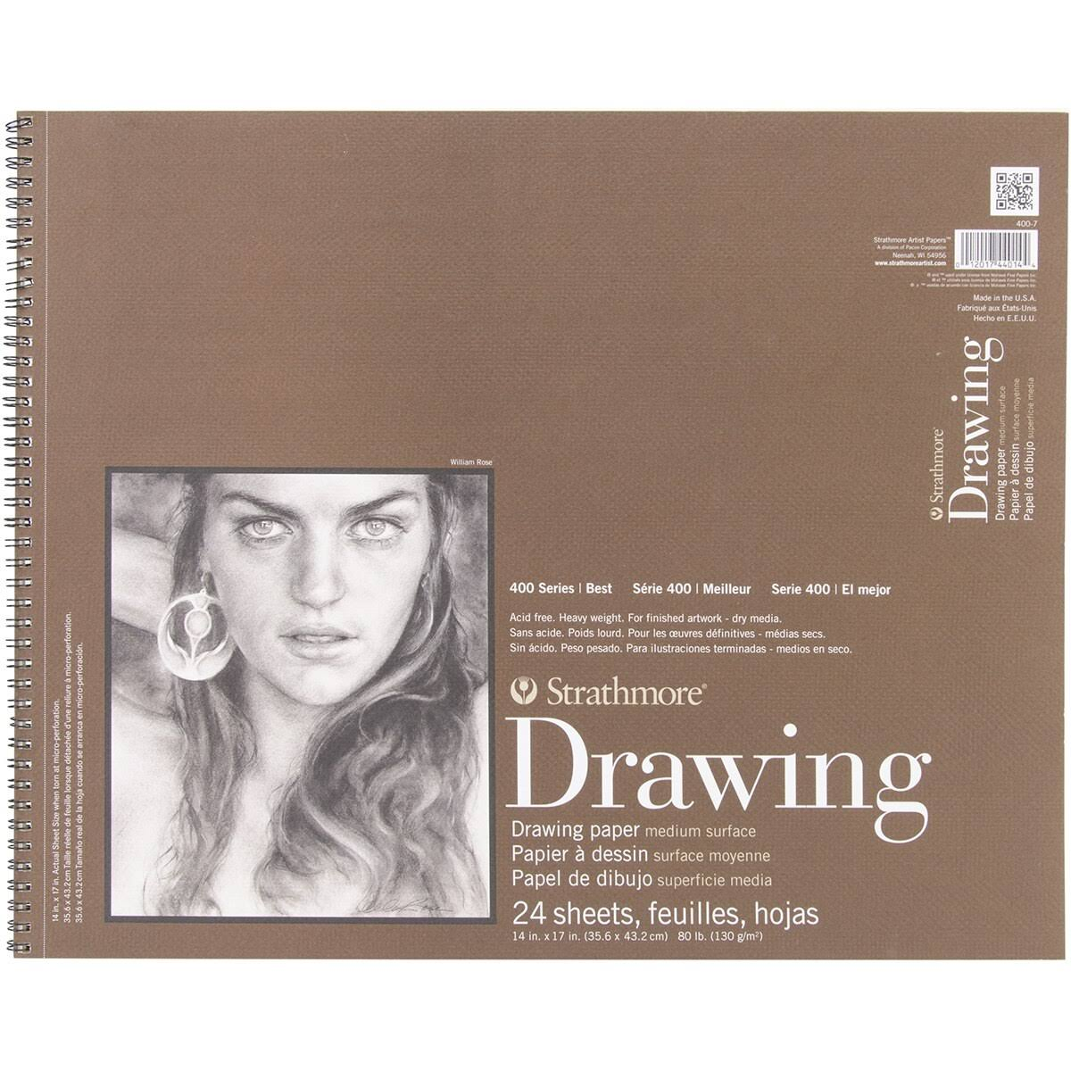 "Strathmore Drawing Medium Paper Pad - 14"" X 17"", 24 Sheets"