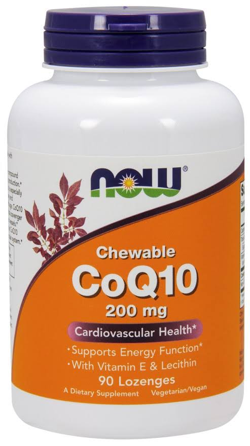 Now Foods CoQ10 Dietary Supplement - 90 Lozenges