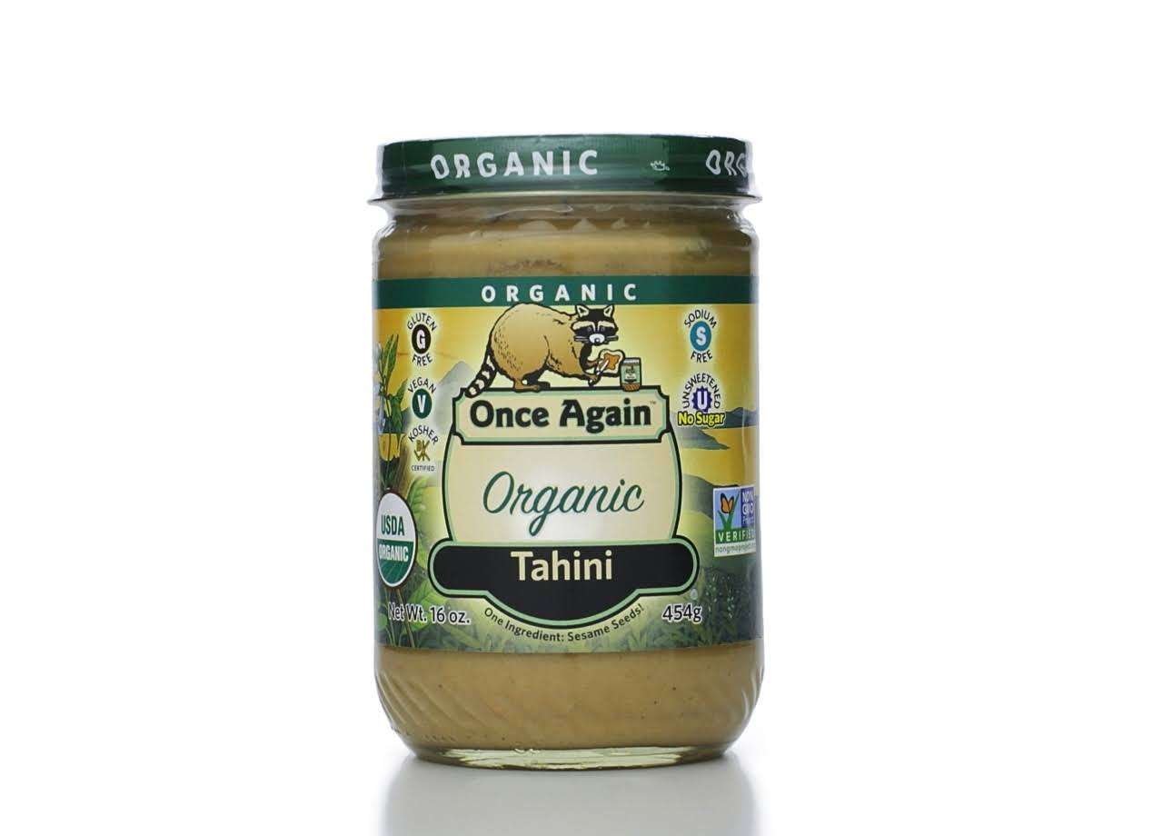 Once Again Organic Tahini - 16 oz jar