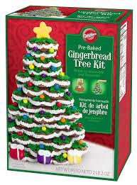 Christmas Tree Amazon Prime by Amazon Com Wilton Pre Baked Gingerbread Tree Kit Cookie Mixes