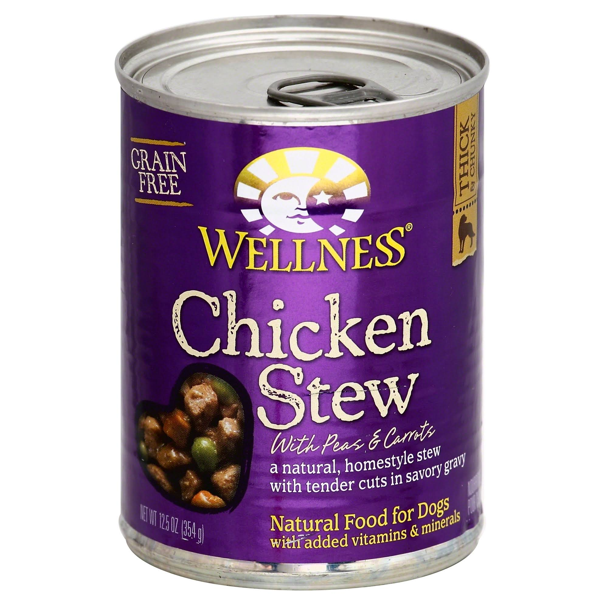 Wellness Grain-Free Chicken Stew Canned Dog Food - 12.5 Oz
