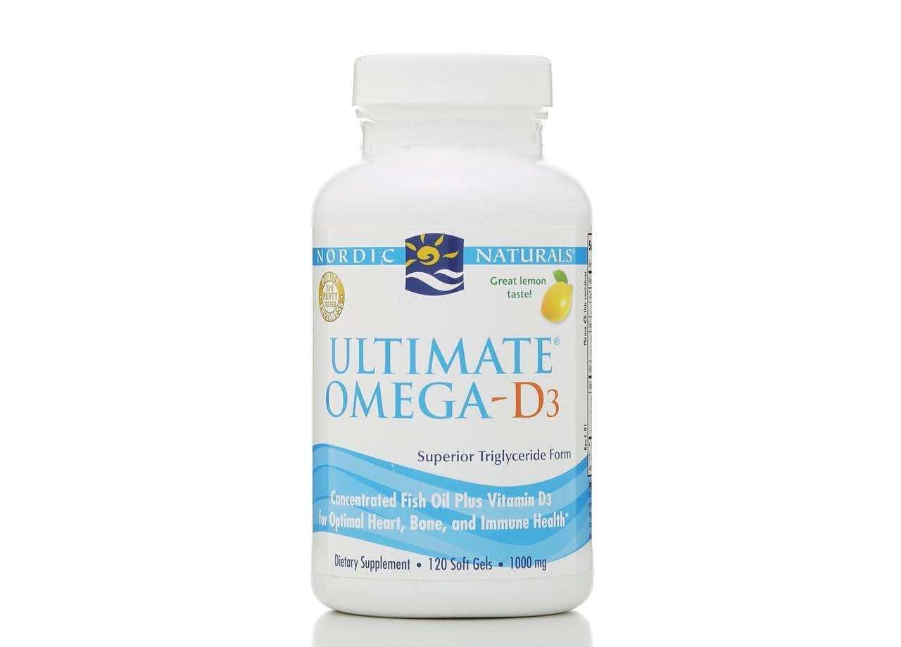 Nordic Naturals Ultimate Omega-D3 - Lemon, 1000mg, 120 Soft Gels