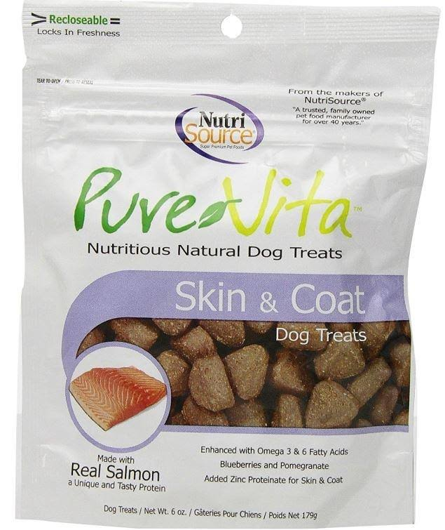 Nutrisource Pure Vita Treats Skin And Coat - 6oz
