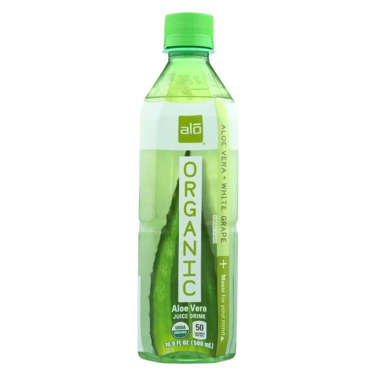 Alo Aloe Vera + White Grape Organic Aloe Vera Juice Drink