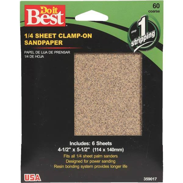 Ali Industries Do it Best Sandpaper - 1/4 Sheet, 60g