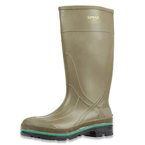 Norcross Safety Products Rubber Knee Boots - Olive, Size 9