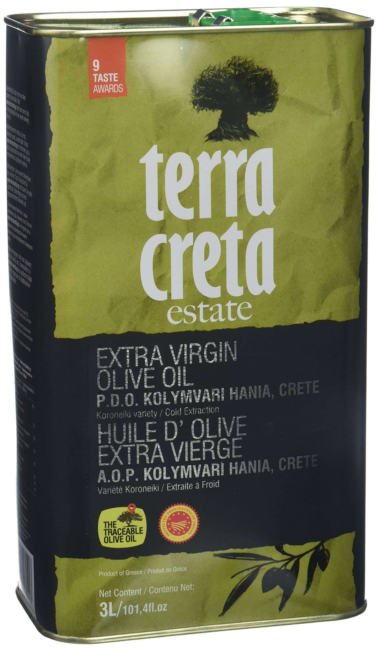 Terra Creta PDO Extra Virgin Greek Olive Oil - 3 L Tin - 14 Taste Awards Winner