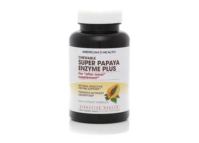 American Health Chewable Enzyme Plus Dietary Supplement - Super Papaya, x180
