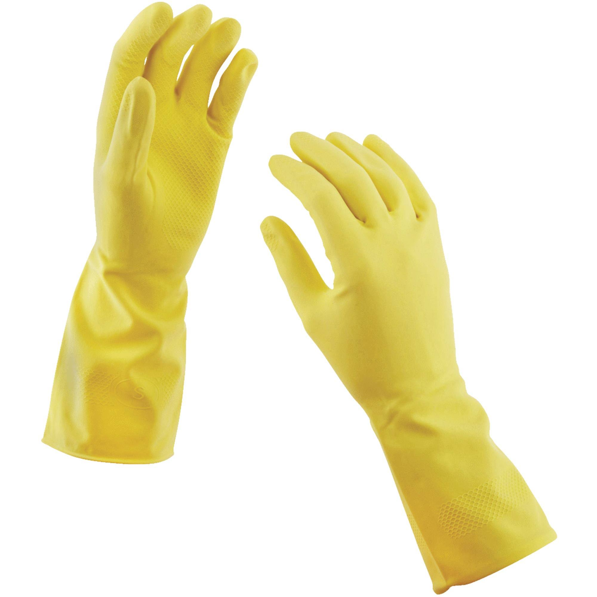Big Time Products Soft Scrub Reusable Latex Gloves - 2 Pack, Extra Large