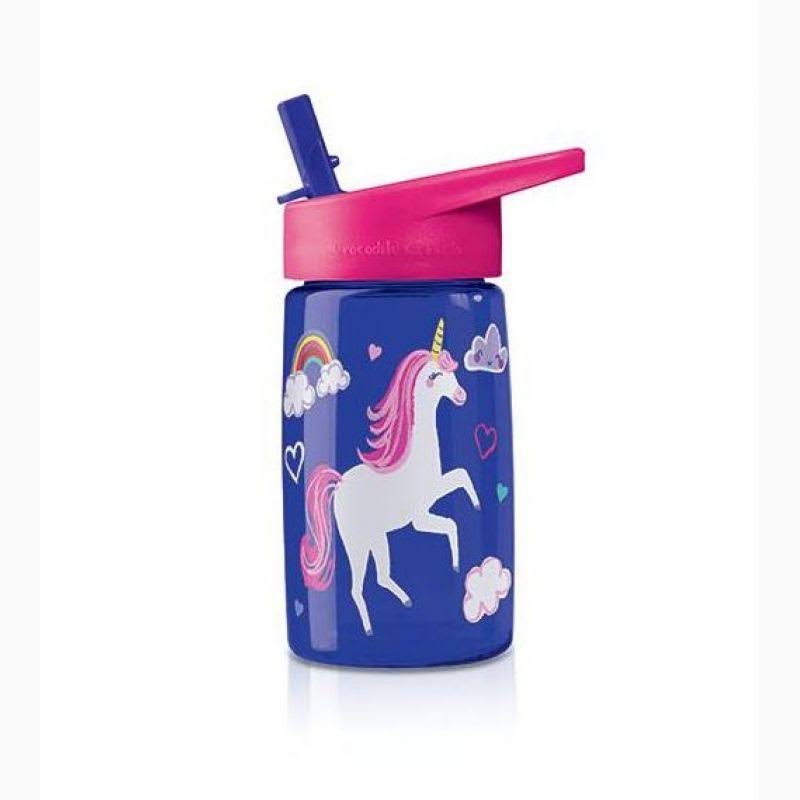 Crocodile Creek Eco Kids Tritan Drinking Bottles - Unicorn, Blue