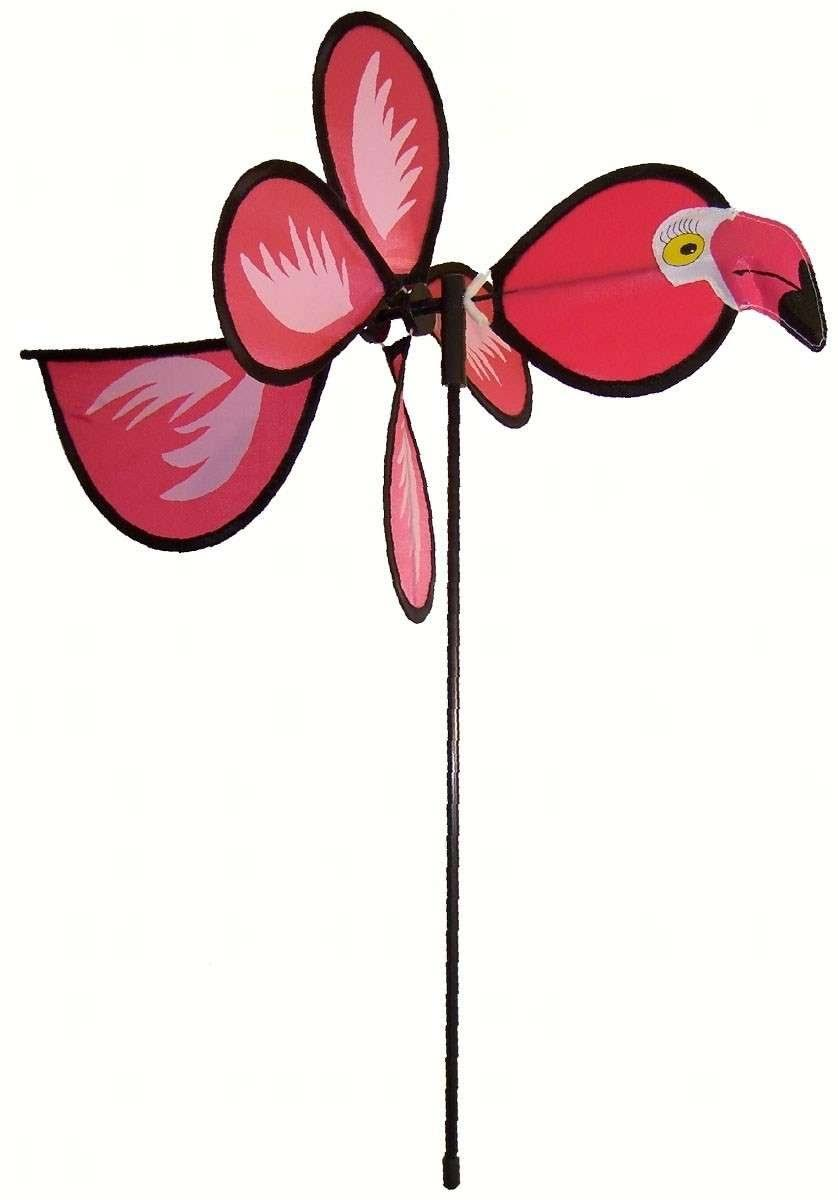 In the Breeze Flamingo Baby Bird Spinner