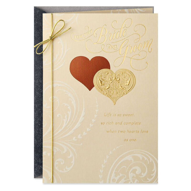 Hands to Hold Wedding Card