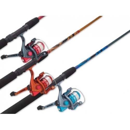 South Bend­ Worm Gear Fishing Rod and Spinning Reel Combo - Orange