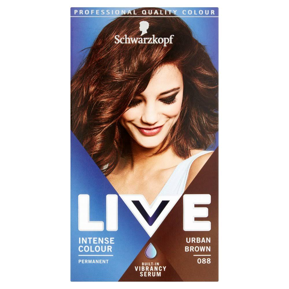 Schwarzkopf Live Intense Colour Permanent Colour - 088 Urban Brown