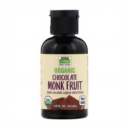 Now Foods Organic Chocolate Monk Fruit - 1.8 fl oz Liquid