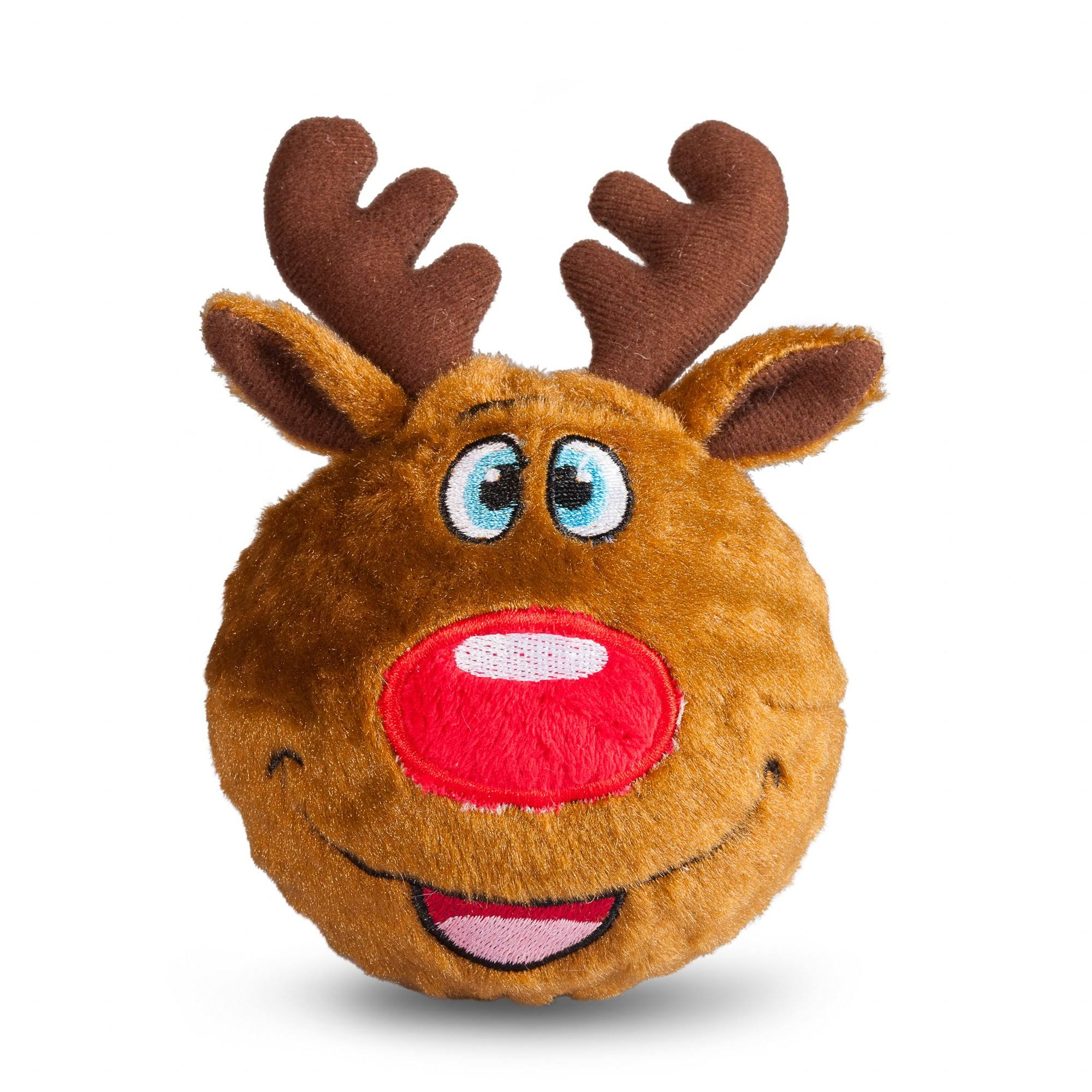 fabdog Reindeer faball Squeaky Dog Toy