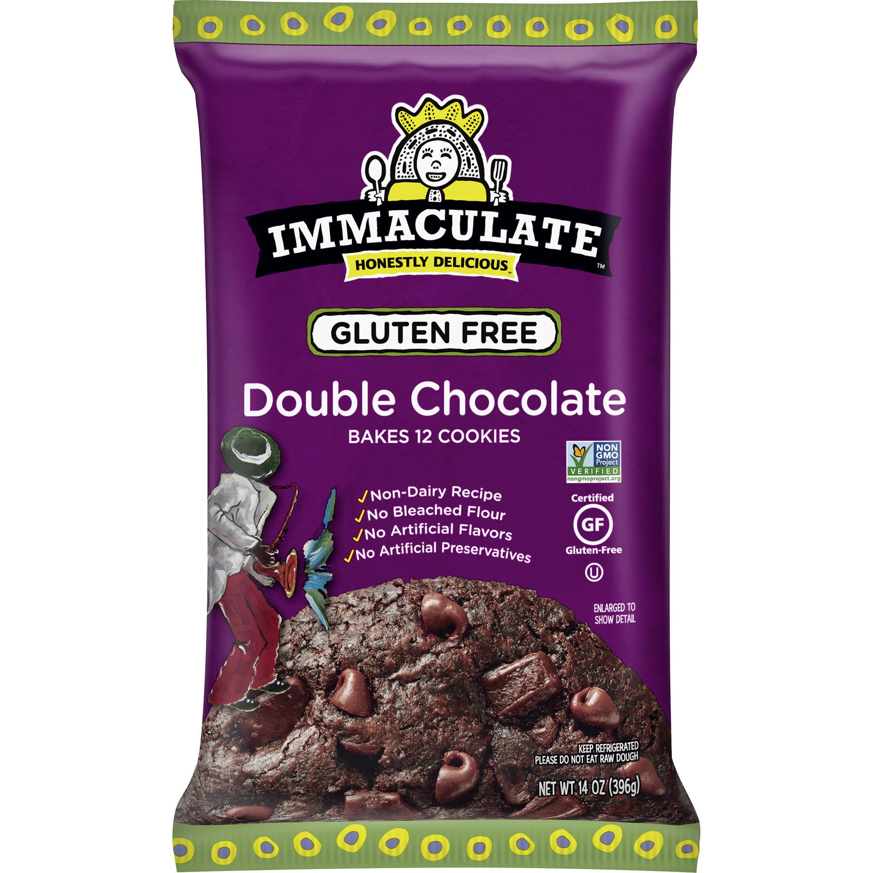Immaculate Baking Co Gluten Free Cookie Dough - Fudge Brownie, 14oz, 12ct