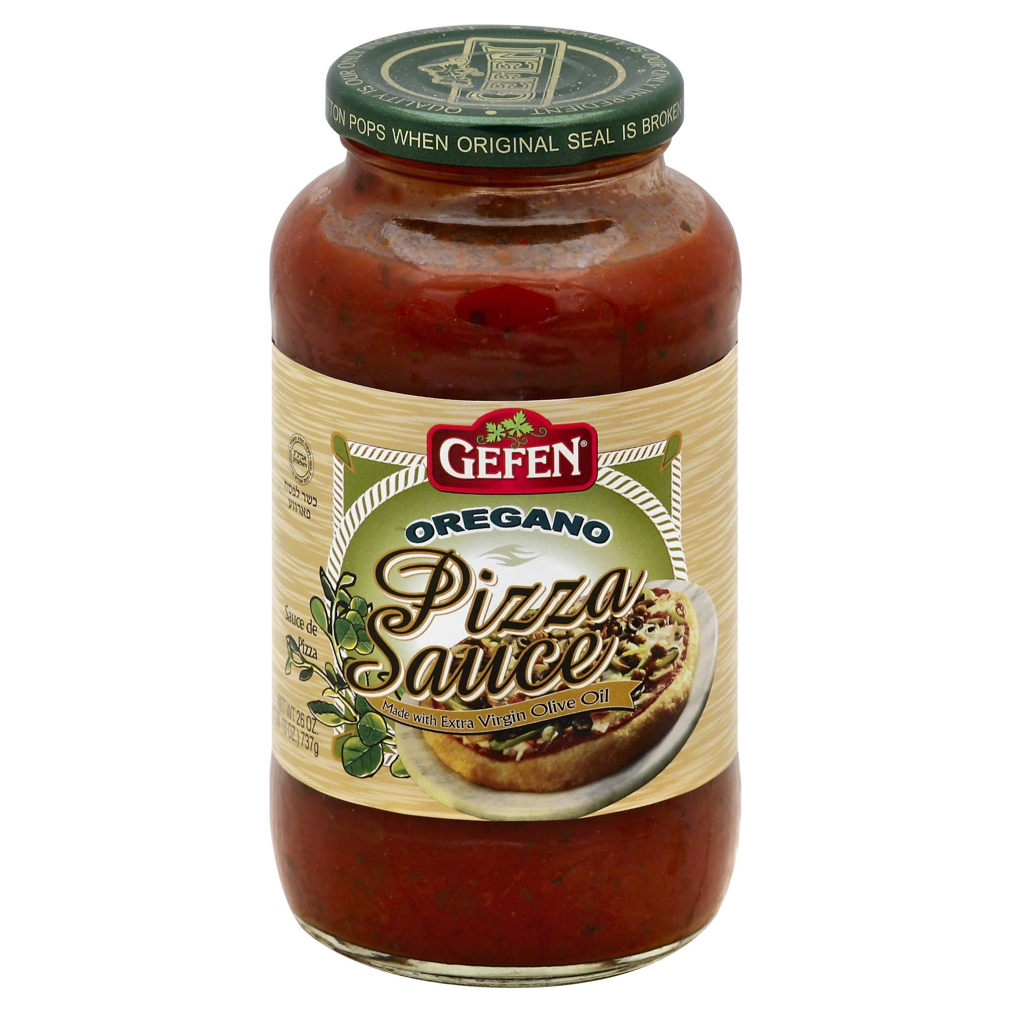 Gefen Pizza Sauce, Oregano - 26 oz